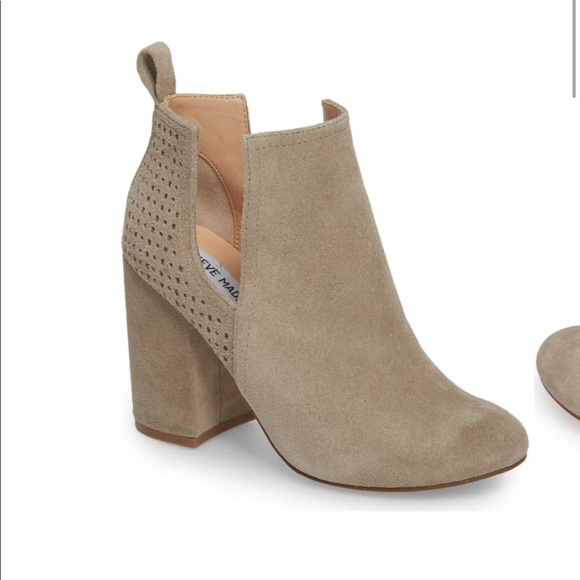 297d9fbf688 Steve Madden Taupe Suede Nomad Bootie